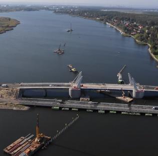 [Gdańsk] Budowa mostu w Sobieszewie