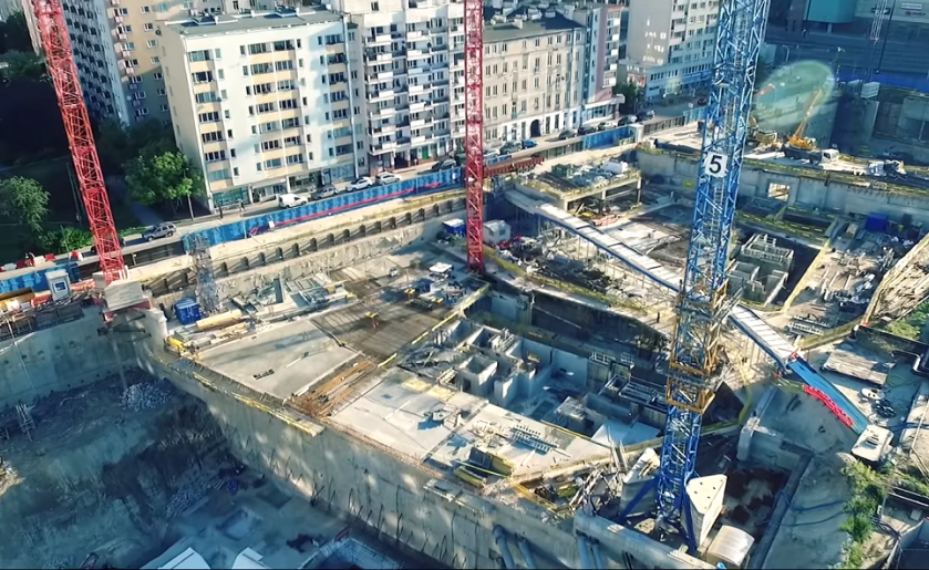 [Warszawa] Budowa Varso z lotu ptaka