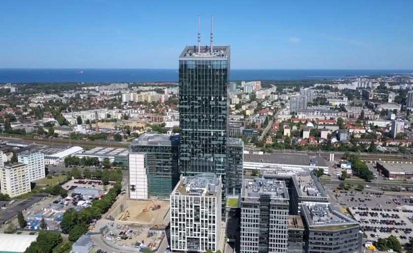 [Gdańsk] Olivia Business Centre z lotu ptaka